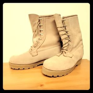 Mens military style combat boots